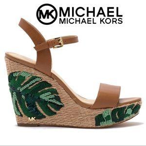 NWT Michael Kors Jill Platform Wedge Sandals
